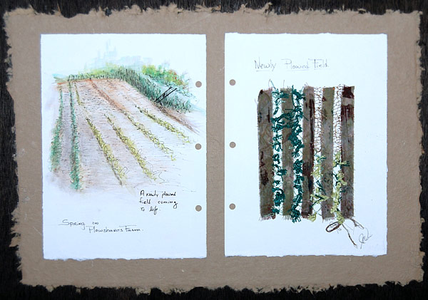 Spring on Ploughshares Farm - Newly Ploughed Field