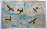 Air, textile art by Joanne Weis