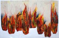 Fire, fiber art