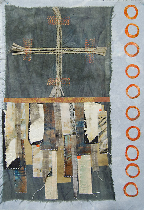mixed media textile art by Joanne Weis